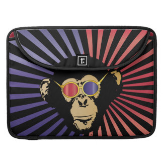 Cool Chimpanzee In 3D Glasses Sleeve For MacBook Pro