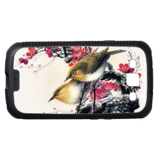 Cool chinese beautiful brown bird red cherry tree galaxy SIII cover