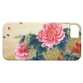 Cool chinese classic watercolor pink flower bee iPhone SE/5/5s case
