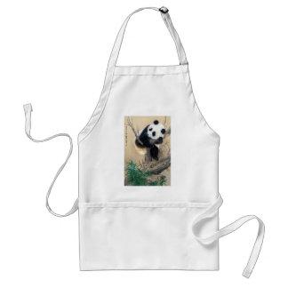 Cool chinese cute sweet fluffy panda bear tree art aprons