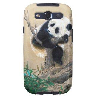 Cool chinese cute sweet fluffy panda bear tree art galaxy s3 cover