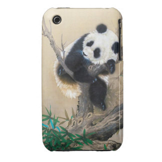 Cool chinese cute sweet fluffy panda bear tree art iPhone 3 Case-Mate cases