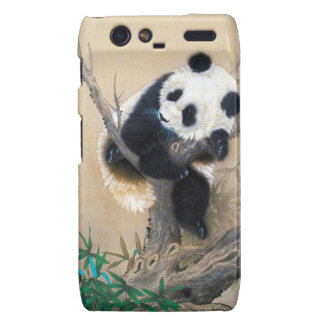 Cool chinese cute sweet fluffy panda bear tree art droid RAZR covers