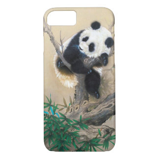 Cool chinese cute sweet fluffy panda bear tree art iPhone 7 case