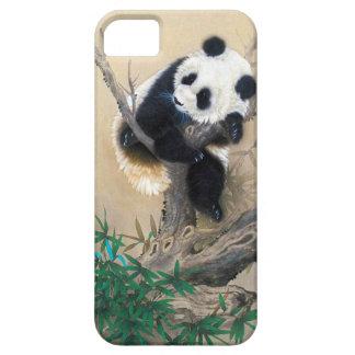 Cool chinese cute sweet fluffy panda bear tree art iPhone SE/5/5s case