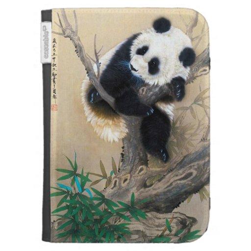 Cool chinese cute sweet fluffy panda bear tree art kindle 3 case