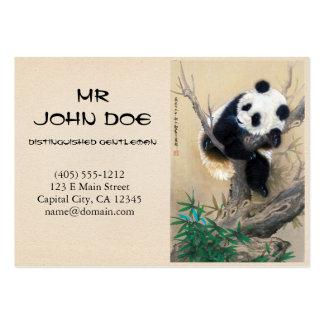 Cool chinese cute sweet fluffy panda bear tree art large business card