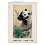 Cool chinese cute sweet fluffy panda bear tree art stationery note card