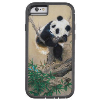 Cool chinese cute sweet fluffy panda bear tree art tough xtreme iPhone 6 case