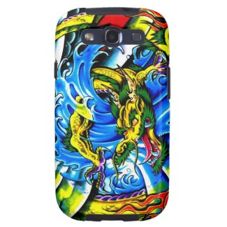 Cool chinese dragon god burning orb tattoo art samsung galaxy SIII covers