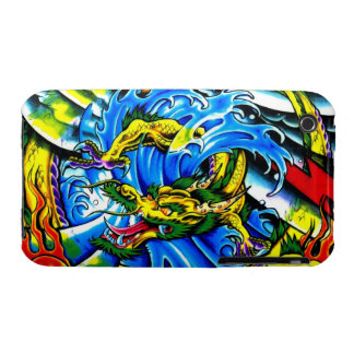 Cool chinese dragon god burning orb tattoo art Case-Mate iPhone 3 cases