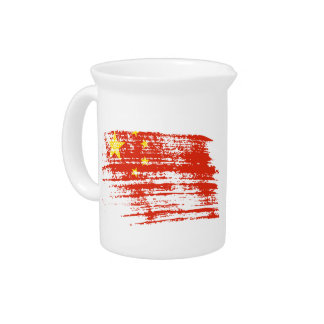 Cool Chinese flag design Pitcher