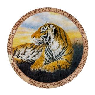Cool chinese fluffy cat tiger rest vintage art poker chips set