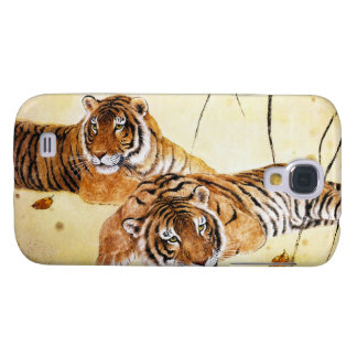 Cool chinese fluffy tiger rest sunset art samsung galaxy s4 cover