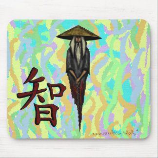 Cool Chinese monk character for wisdom mousepad
