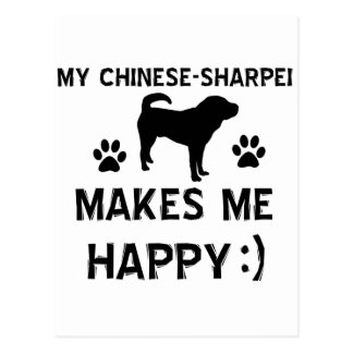 Cool Chinese Sharpei dog breed designs Post Cards