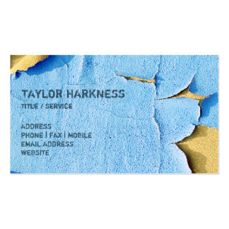 Cool Chipped Paint Peeling Cracked Blue Sand Double-Sided Standard Business Cards (Pack Of 100)
