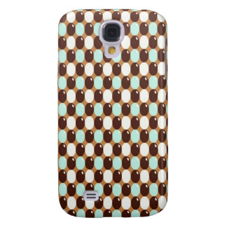 Cool chocolate mint round candy pattern galaxy s4 cover