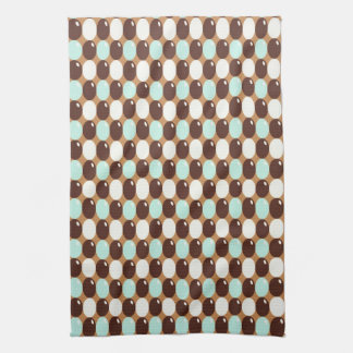 Cool chocolate mint round candy pattern hand towel