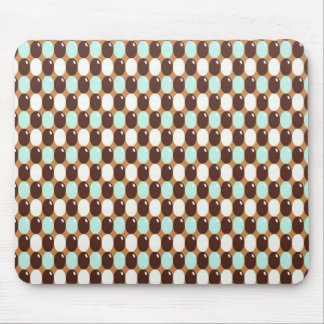 Cool chocolate mint round candy pattern mouse pad