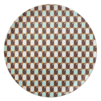 Cool chocolate mint round candy pattern party plate