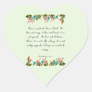 Cool Christian Art - 1 Corinthians 13:4-5 Stickers