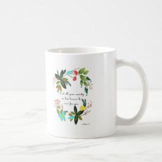 Cool Christian Art - 1 Peter 5:7 Coffee Mug
