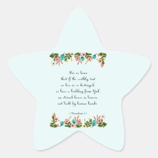 Cool Christian Art - 2 Corinthians 5:1 Star Sticker