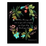 Cool Christian Art - Deuteronomy 28:2 Post Card