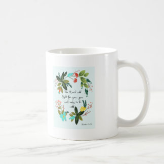 Cool Christian Art - Exodus 14:14 Coffee Mug