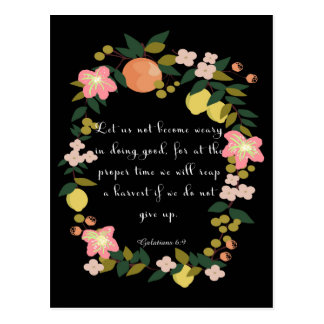 Cool Christian Art - Galatians 6:9 Postcard