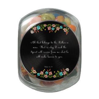 Cool Christian Art - John 16:15 Glass Candy Jar