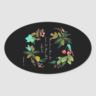 Cool Christian Art - Matthew 5:4 Oval Sticker