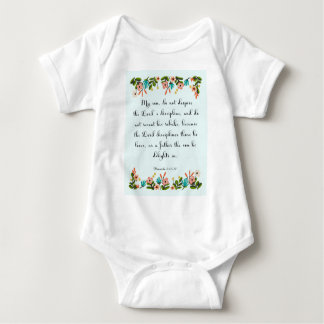 Cool Christian Art - Proverbs 3:11-12 Baby Bodysuit