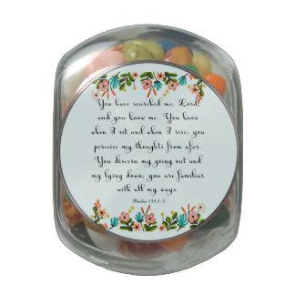 Cool Christian Art - Psalm 139:1-3 Glass Candy Jars