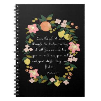 Cool Christian Art - Psalm 23:4 Notebook