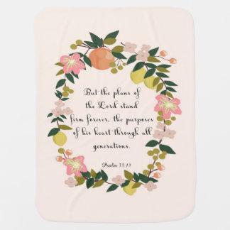 Cool Christian Art - Psalm 33:11 Receiving Blanket