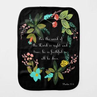 Cool Christian Art - Psalm 33:4 Burp Cloths