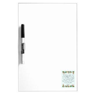 Cool Christian Art - Zephaniah 3:17 Dry Erase Board