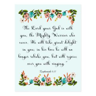 Cool Christian Art - Zephaniah 3:17 Post Cards
