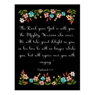 Cool Christian Art Zephaniah 3:17 Postcard
