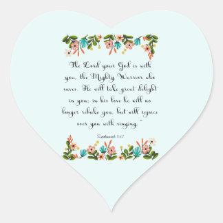 Cool Christian Art - Zephaniah 3:17 Stickers