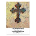 Cool Christian Cross Circle Mosaic Pattern Business Card