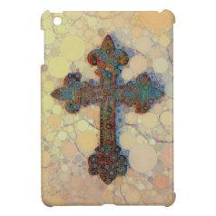 Cool Christian Cross Circle Mosaic Pattern Case For The iPad Mini