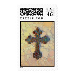 Cool Christian Cross Circle Mosaic Pattern Stamp