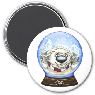 Cool Christmas Bear 3 Inch Round Magnet