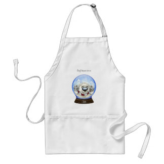 Cool Christmas Bear Adult Apron