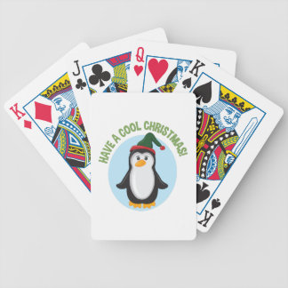 Cool Christmas Bicycle Playing Cards