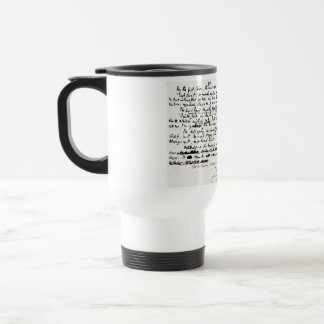COOL CHRISTMAS CAROLS CHARLES DICKENS MANUSCRIPT TRAVEL MUG
