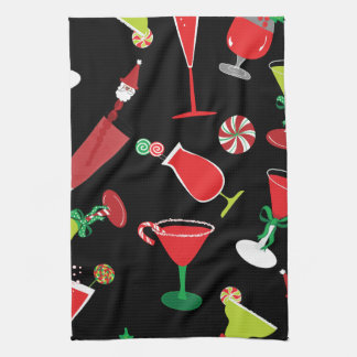 Cool Christmas Cocktails Kitchen Towel